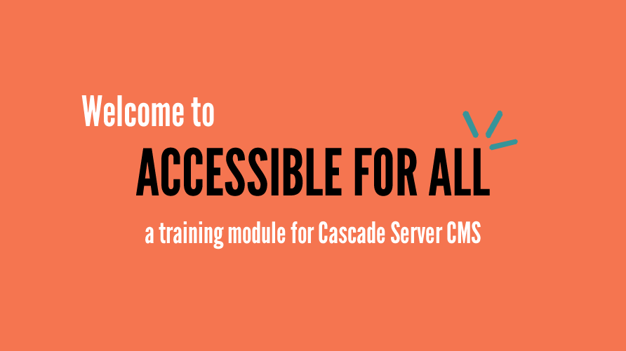 Welcome to Accessible for All